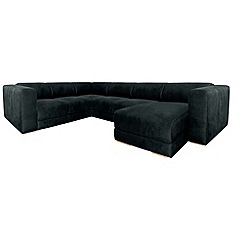 RJR.John Rocha - Suede effect 'Elements' right-hand facing corner sofa with chaise