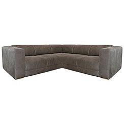RJR.John Rocha - Suede effect 'Elements' corner sofa