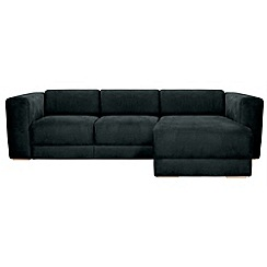 RJR.John Rocha - Suede effect 'Elements' right-hand facing chaise corner sofa