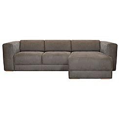 RJR.John Rocha - Suede effect 'Elements' right-hand facing chaise corner sofa