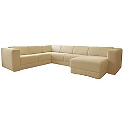 RJR.John Rocha - Linen blend 'Elements' right-hand facing corner sofa with chaise