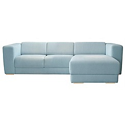 RJR.John Rocha - Linen blend 'Elements' right-hand facing chaise corner sofa