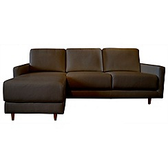 RJR.John Rocha - Leather 'Eclipse' left-hand facing chaise corner sofa