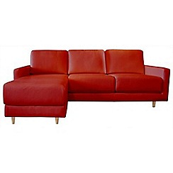 RJR.John Rocha - Leather red 'Eclipse' left-hand facing chaise corner sofa