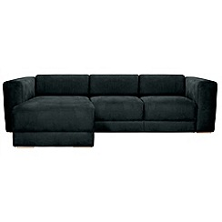 RJR.John Rocha - Suede effect 'Elements' left-hand facing chaise corner sofa
