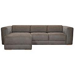RJR.John Rocha - Suede effect 'Elements' left-hand facing chaise corner sofa