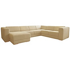 RJR.John Rocha - Linen blend 'Elements' left-hand facing corner sofa with chaise