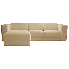 RJR.John Rocha - Linen blend 'Elements' left-hand facing chaise corner sofa