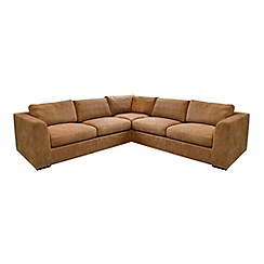 Debenhams - Large leather 'Paris' corner sofa