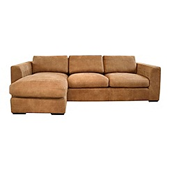 Debenhams - Leather 'Paris' left-hand facing chaise corner sofa