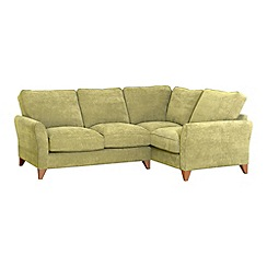 Debenhams - Velour 'Fyfield Grace' right-hand facing corner sofa