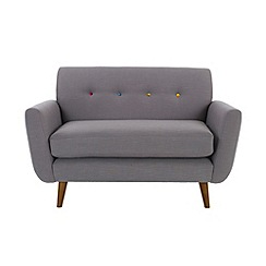 Ben de Lisi Home - 'Hockney' loveseat with multi-coloured buttons