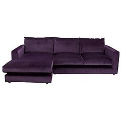RJR.John Rocha - Velvet 'Trinity' left-hand facing chaise corner sofa