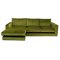 Debenhams - 'Slouchy' left-hand facing chaise corner sofa