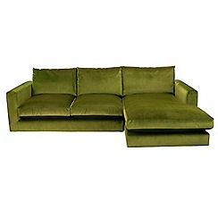 Debenhams - 'Slouchy' right-hand facing chaise corner sofa