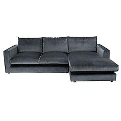 Debenhams - 'Slouchy' right-hand facing chaise corner sofa