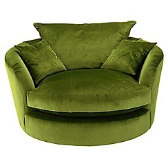 Debenhams - 'Slouchy' swivel loveseat