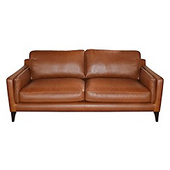 Debenhams - Large leather 'Mathias' sofa