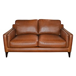 Debenhams - Small leather 'Mathias' sofa