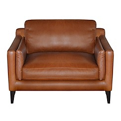 Debenhams - Leather 'Mathias' loveseat