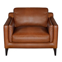 Debenhams - Leather 'Mathias' armchair