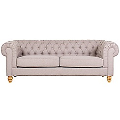 Debenhams - Extra-large linen effect 'Chesterfield' sofa