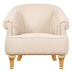 Debenhams - Linen effect 'Chesterfield' armchair