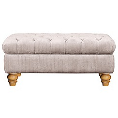 Debenhams - Linen effect 'Chesterfield' footstool