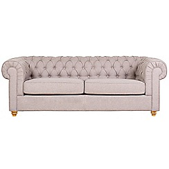 Debenhams - Large linen effect 'Chesterfield' sofa bed