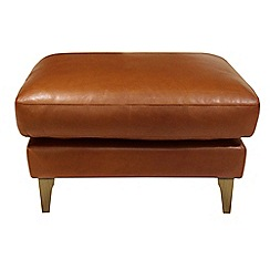 Debenhams - Leather 'Mathias' footstool