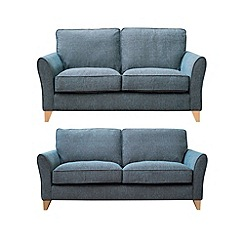 Debenhams - Set of large and medium textured 'Fyfield' sofas