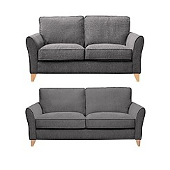 Debenhams - Set of large and medium textured 'Fyfield Barley' sofas