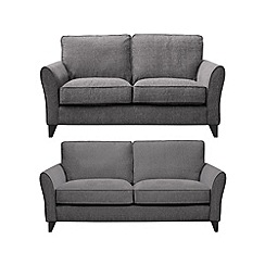 Debenhams - Set of large and medium woven 'Fyfield Barley' sofas