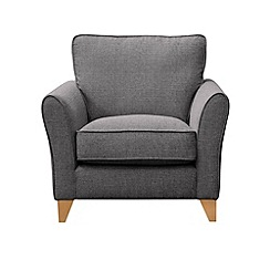 Debenhams - Textured 'Fyfield' armchair