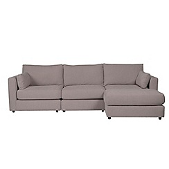 Debenhams - Rimini' right-hand facing modular chaise corner sofa