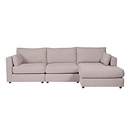 Debenhams - Rimini' right-hand facing modular chaise corner sofa
