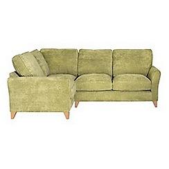 Debenhams - Velour 'Fyfield Grace' left-hand facing corner sofa