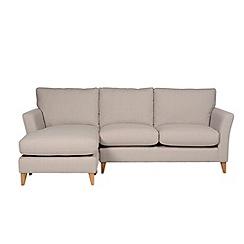 Debenhams - Large 'Stockholm' chaise corner sofa