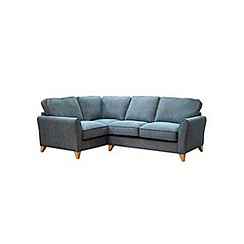 Debenhams - Textured 'Fyfield Barley' left hand facing corner sofa
