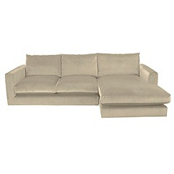 RJR.John Rocha - Flat weave fabric 'Trinity' right-hand facing chaise corner sofa