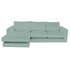 RJR.John Rocha - Flat weave fabric 'Trinity' left-hand facing chaise corner sofa
