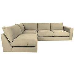 RJR.John Rocha - Flat weave fabric 'Trinity' left-hand facing corner sofa