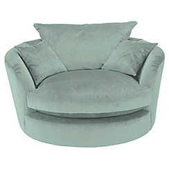 RJR.John Rocha - Flat weave fabric 'Trinity' swivel loveseat