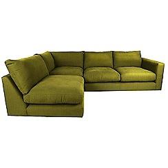 RJR.John Rocha - Velvet 'Trinity' left-hand facing corner sofa