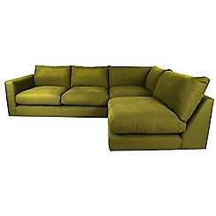 RJR.John Rocha - Velvet 'Trinity' right-hand facing corner sofa