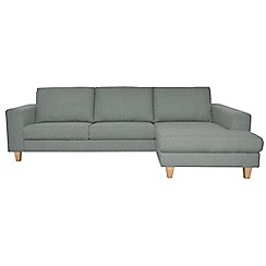 Ben de Lisi Home - Super-soft 'Cara Shetland' right-hand facing chaise corner sofa