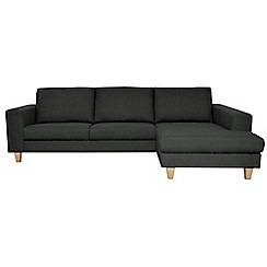 Ben de Lisi Home - Super-soft 'Cara Shetland' right-hand facing chaise corner sofa
