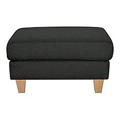 Ben de Lisi Home - Dark grey super-soft 'Cara Shetland' footstool
