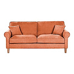 Debenhams - Large velour 'Delta' sofa