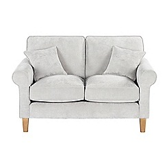 Debenhams - Medium velour 'Delta' sofa
